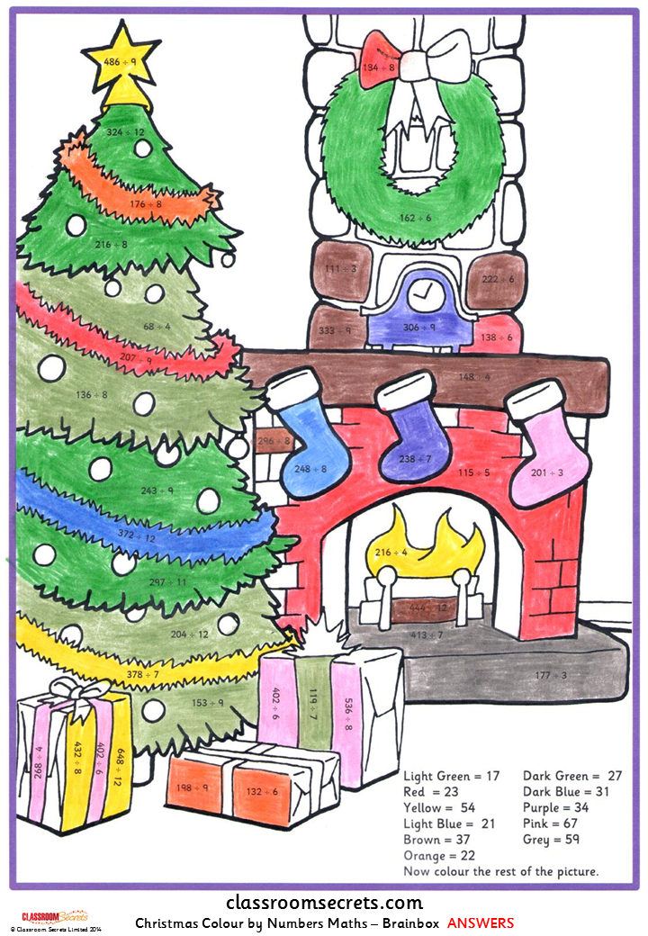 Search results for christmas colour by numbers x times for 12 days of christmas table numbers