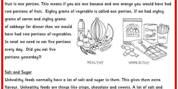 Healthy Eating Worksheets carolinabeachsurfreport – Healthy Eating Worksheets
