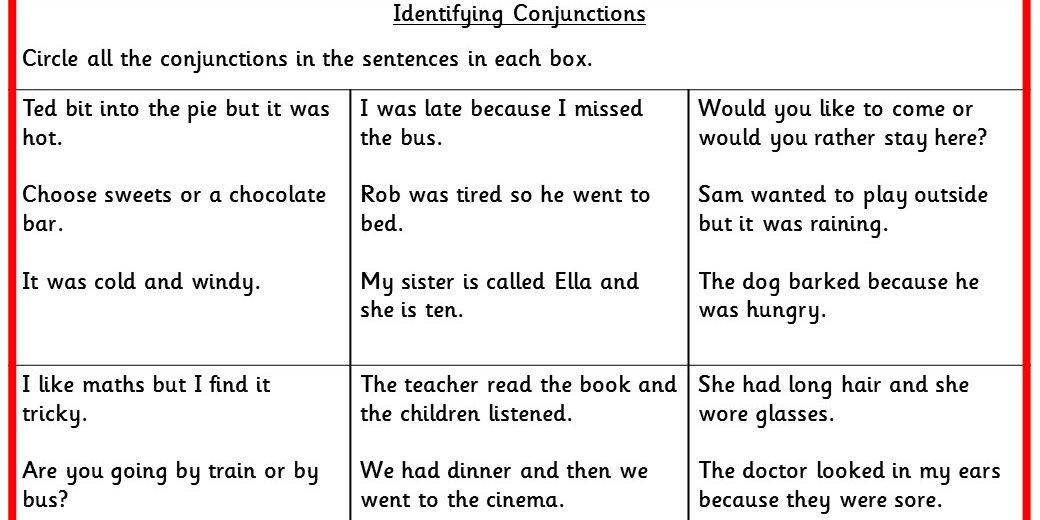 Identifying Conjunctions KS2 SPAG Test Practice - Classroom Secrets ...