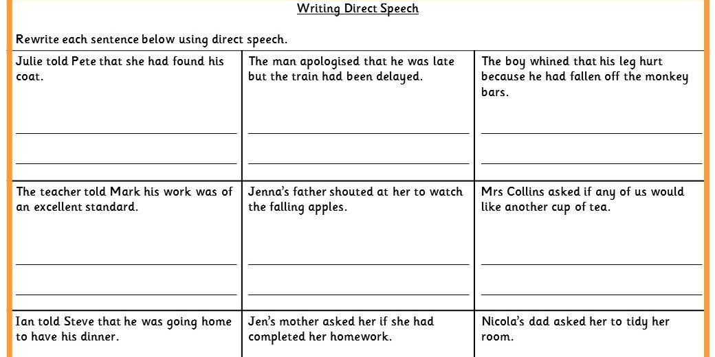 Writing Direct Speech Ks2 Spag Test Practice Classroom Secrets