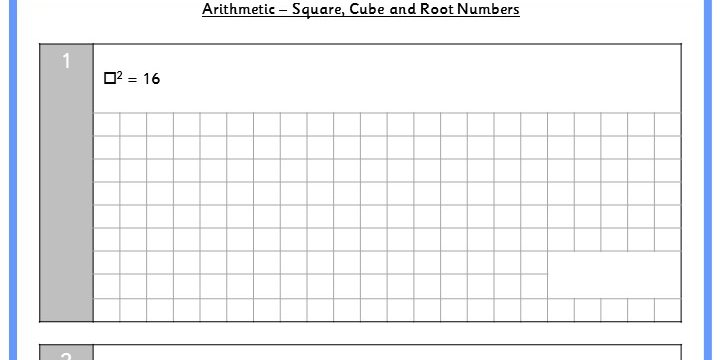 Square, Cube and Root Numbers KS2 Arithmetic Test Practice ...