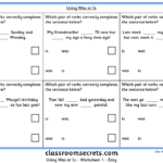 Using Was or Is KS2 SPAG Test Practice